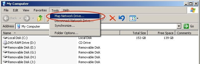how to add a shared drive to my computer